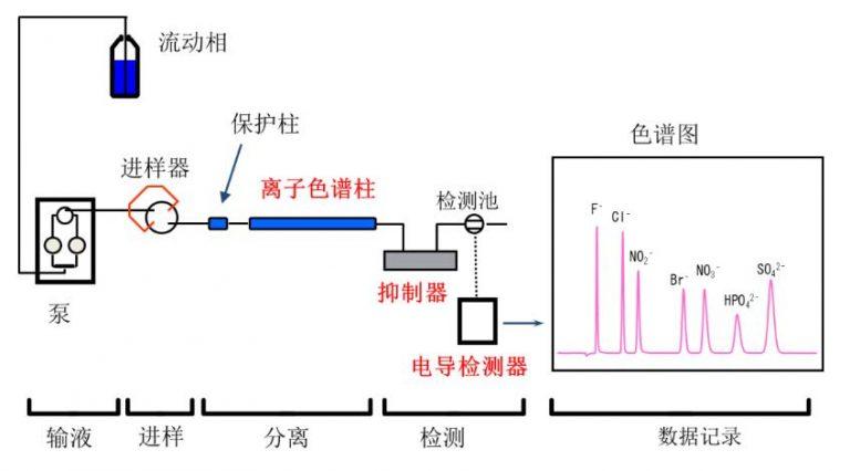 离子色谱仪结构示意图